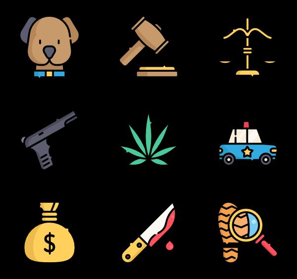 icon packs vector. Crime clipart crime scene
