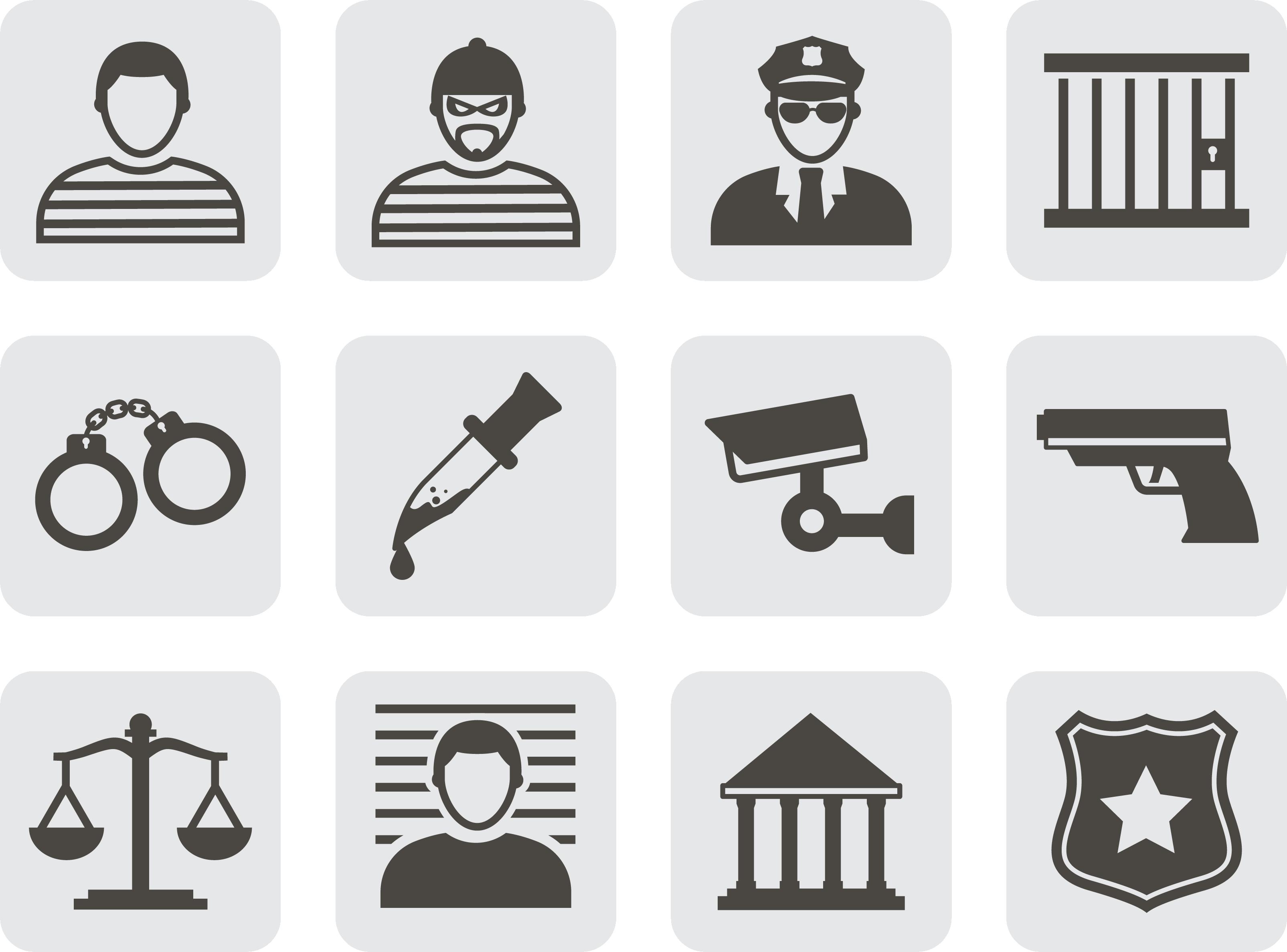 Handcuffs clipart criminal court. Crime icon police justice