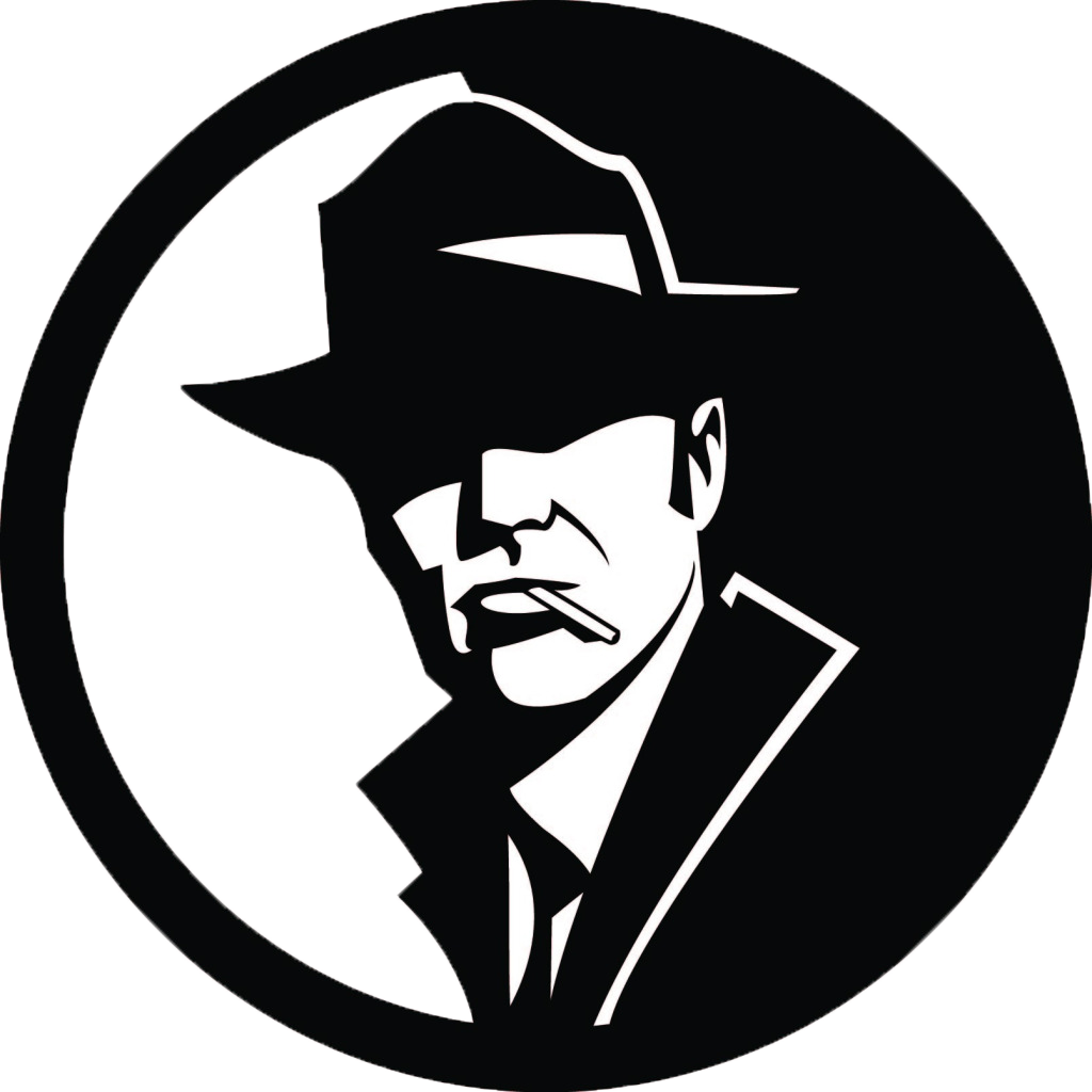 Private investigator police clip. Detective clipart symbol