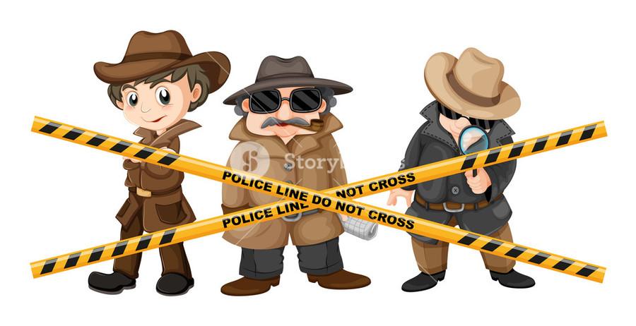 Crime clipart detective. Illustration police cartoon graphics