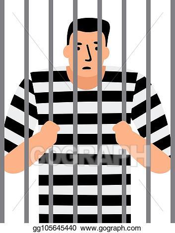 Vector art man in. Jail clipart criminal