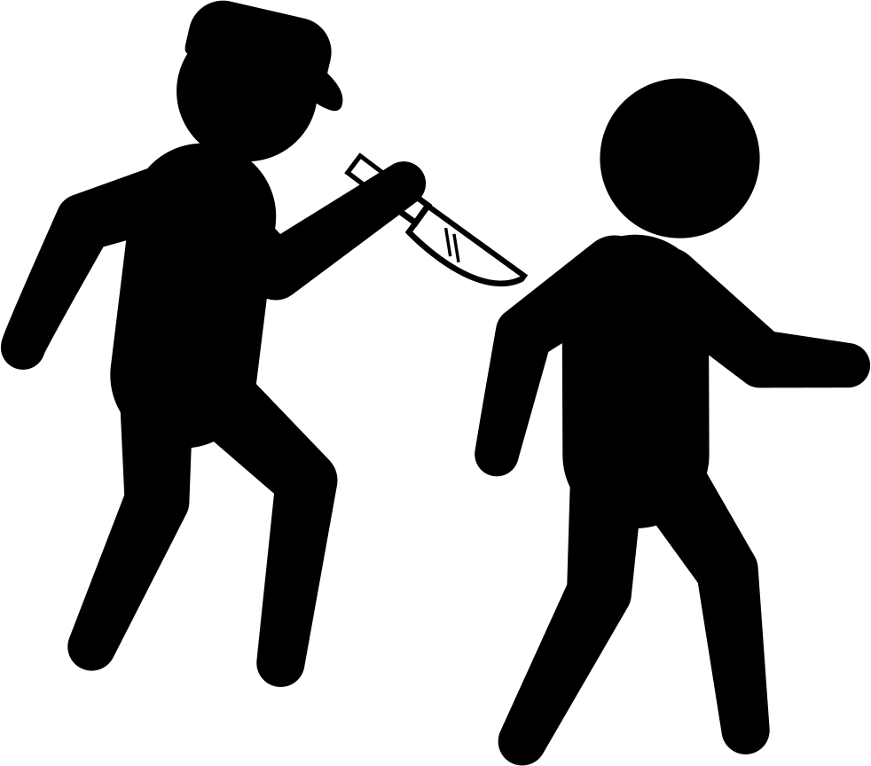 Criminal with a behind. Crime clipart knife crime
