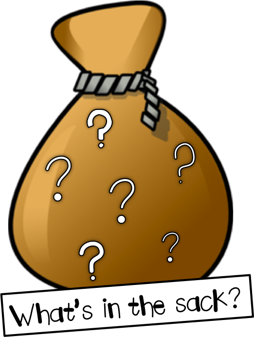 Evidence clipart mystery tour. Vibrant bag