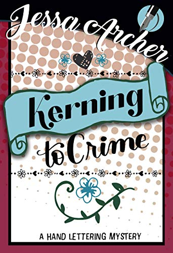 Kerning to hand lettering. Crime clipart mystery book
