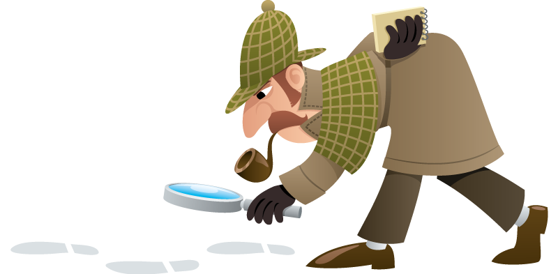 Crime clipart mystery book. Organising a detective