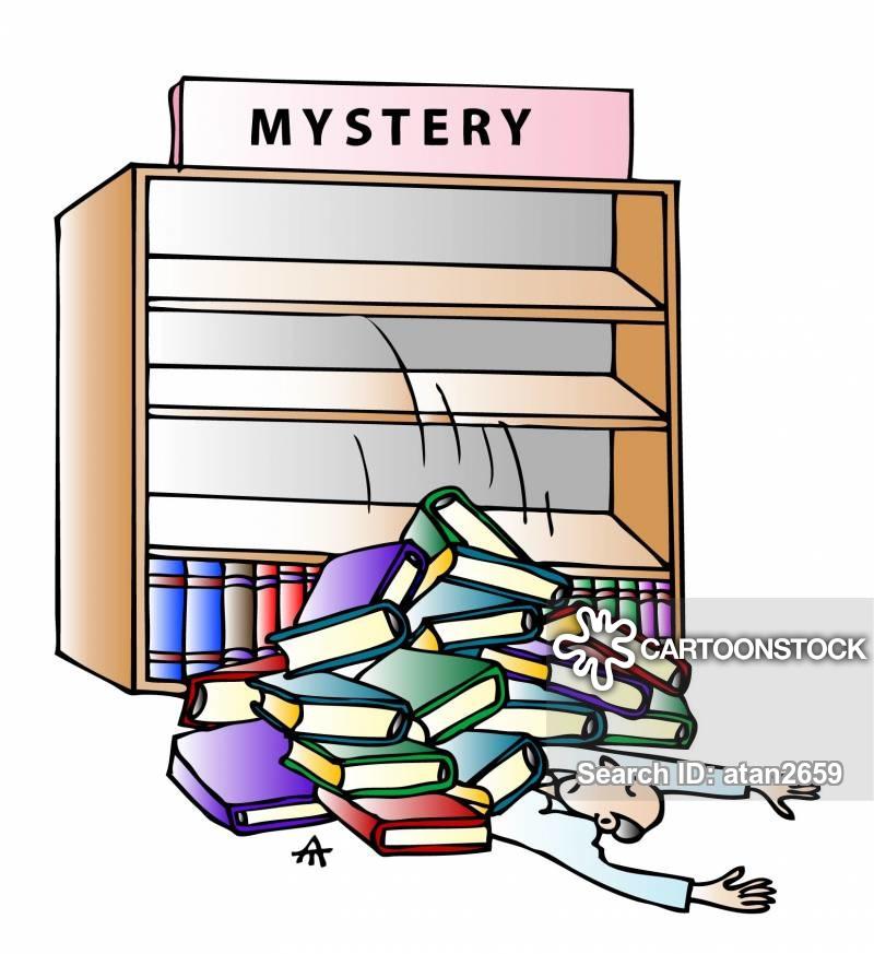 Crime clipart mystery book. Novel cartoons and comics