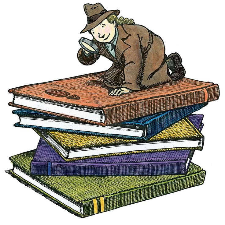 Genre detective and reading. Mystery clipart teacher