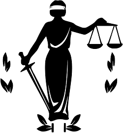 Justice clipart supreme law land. Crime and due process