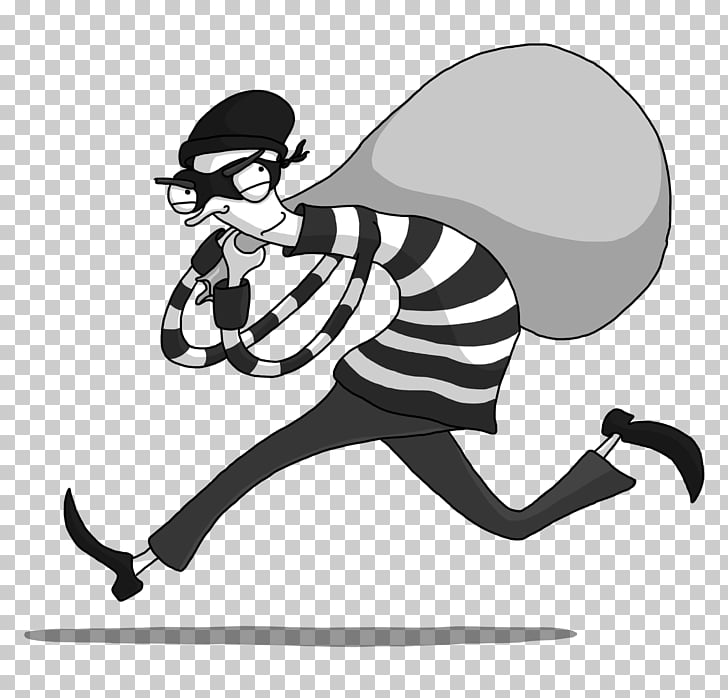 Bank robber s grayscale. Crime clipart robbery