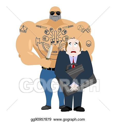 Crime clipart robbery. Vector illustration man criminal