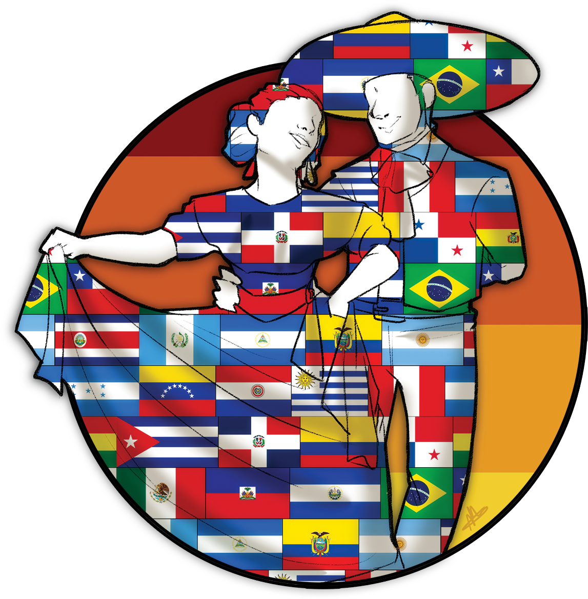 Hispanic heritage month honors. Proud clipart obscenity