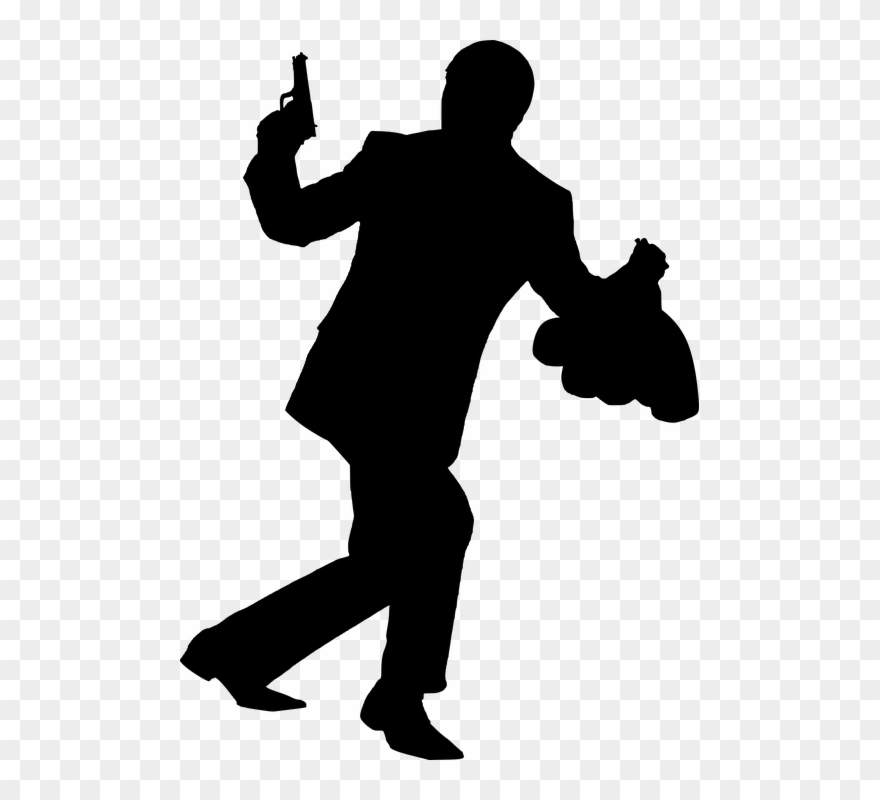 Robery silhouette transparent png. Criminal clipart organized crime