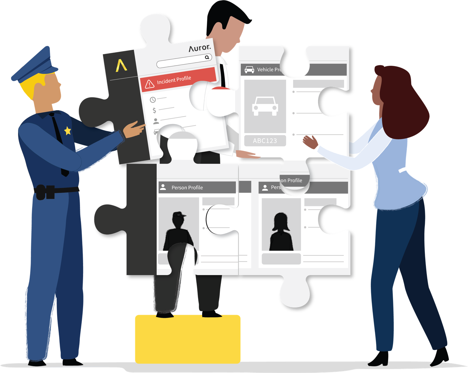 Connecting the dots understand. Professional clipart professional team