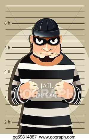 Criminal clipart. Eps illustration mug shot