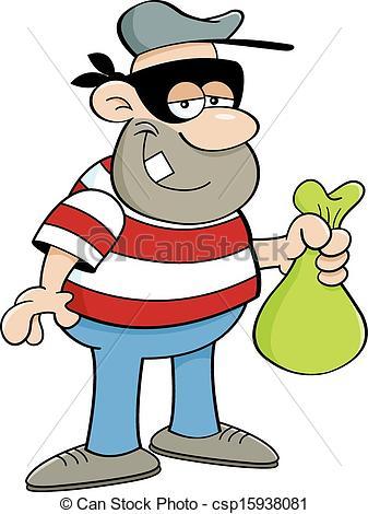 Cartoon . Criminal clipart