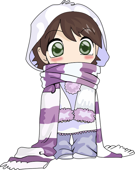 Criminal clipart bad cop. Anime girl winter free