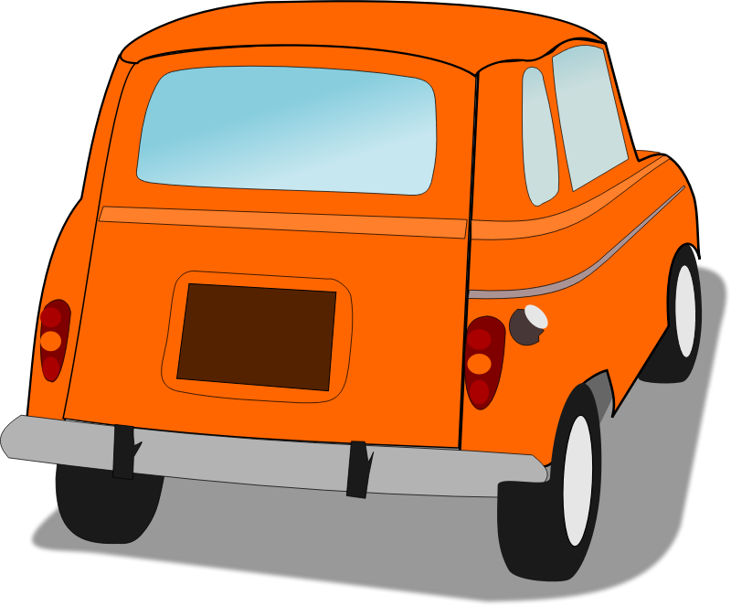 Vehicle car free on. Minivan clipart orange