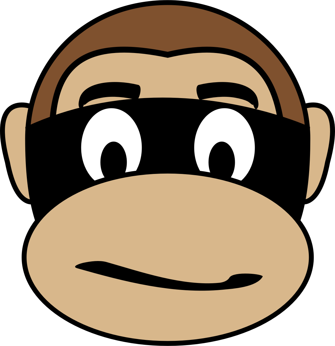 Monkey emoji big image. Criminal clipart cartoon