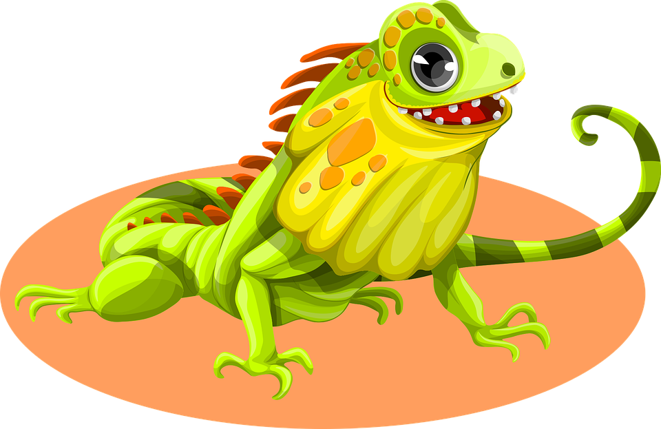 Iguana clipart downloadable. Green clip art free