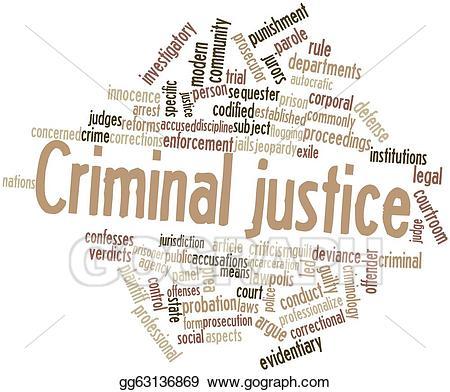 Criminal clipart criminal justice system. Stock illustration illustrations