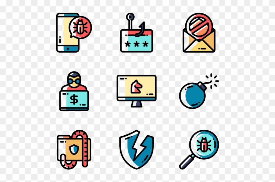 Crime flat icon employee. Criminal clipart cyber criminal