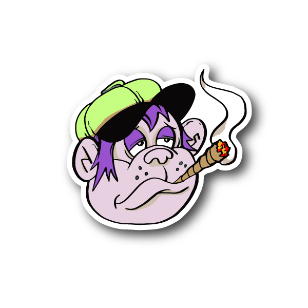 Marijuana clipart animated. Cartoon monkey smoking joint