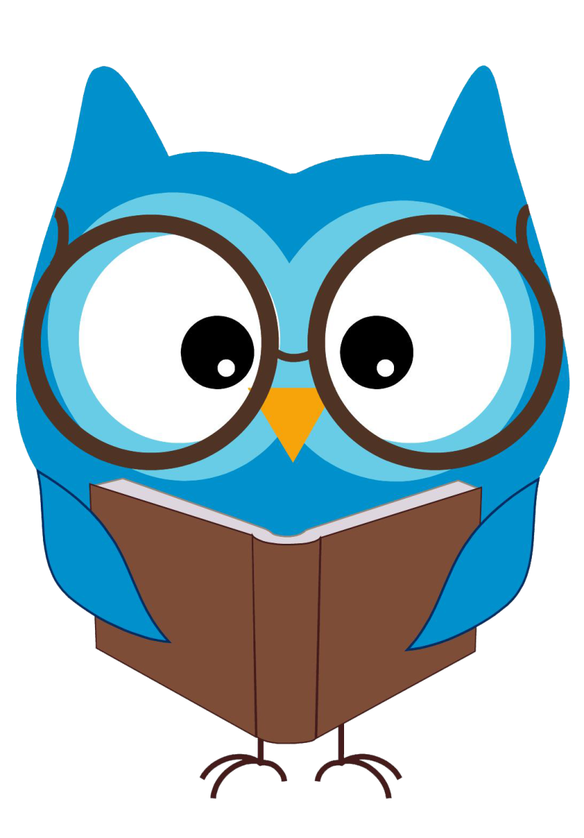 Owl question graphics illustrations. Yearbook clipart animated