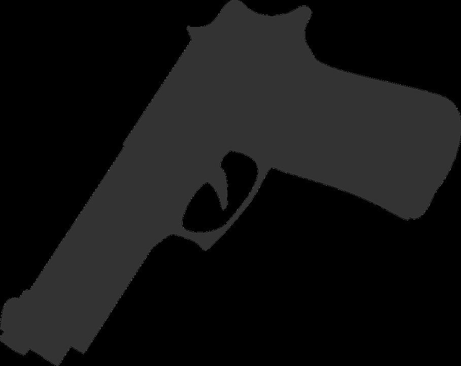 Guns clipart person. Gun pointing at you