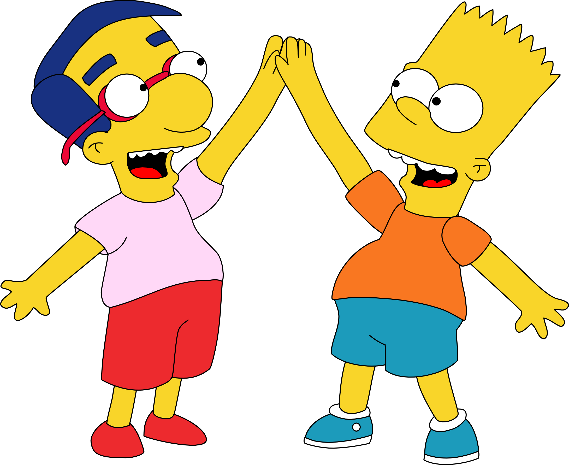 Criminal clipart jailbird. Bart and milhouse hi
