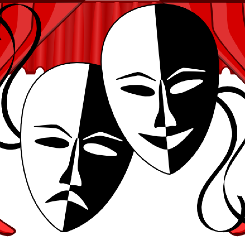 Poetry clipart theater. Theatre mask free on