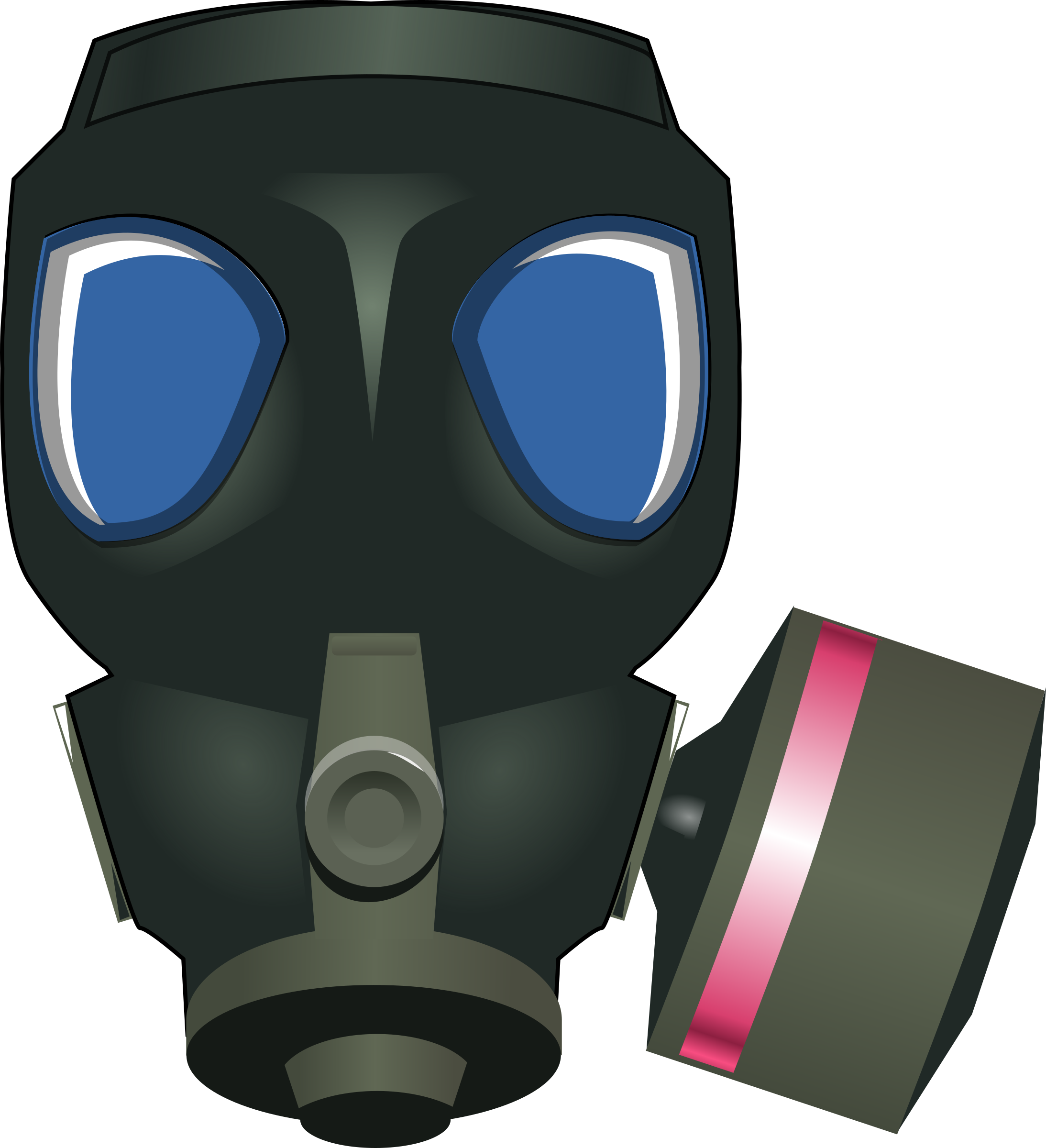 Mask clipart gas mask. Cartoon pencil and in