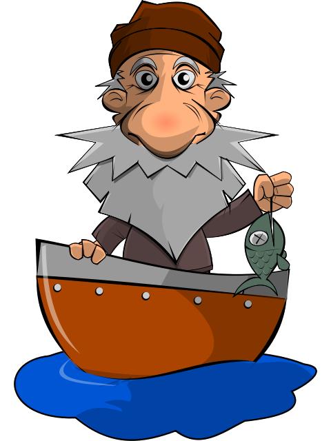 Fisherman sad