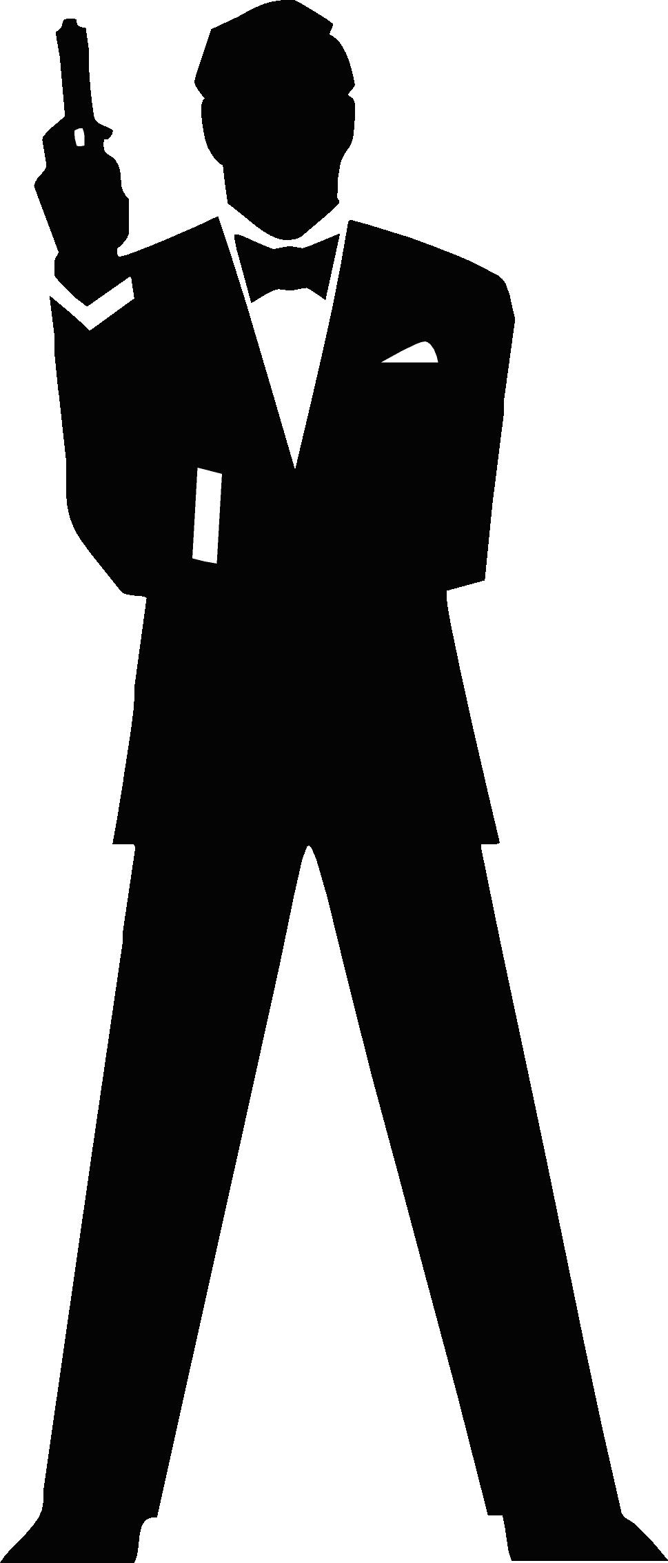 James bond silhouette b. Criminal clipart secret agent man