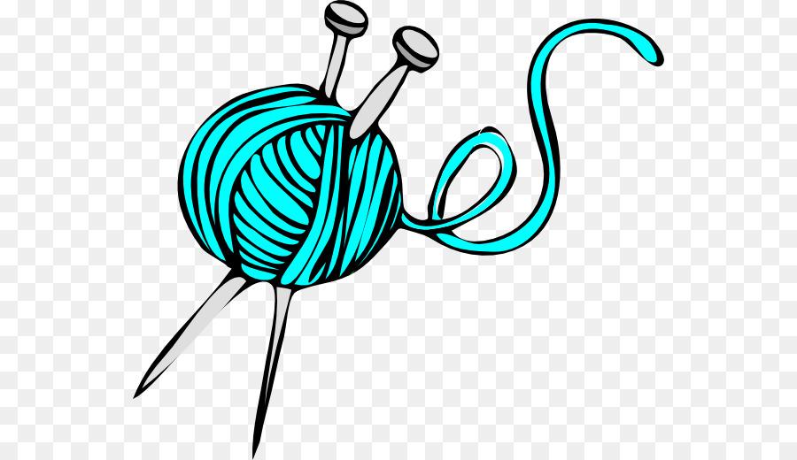 Hook knitting yarn clip. Crochet clipart