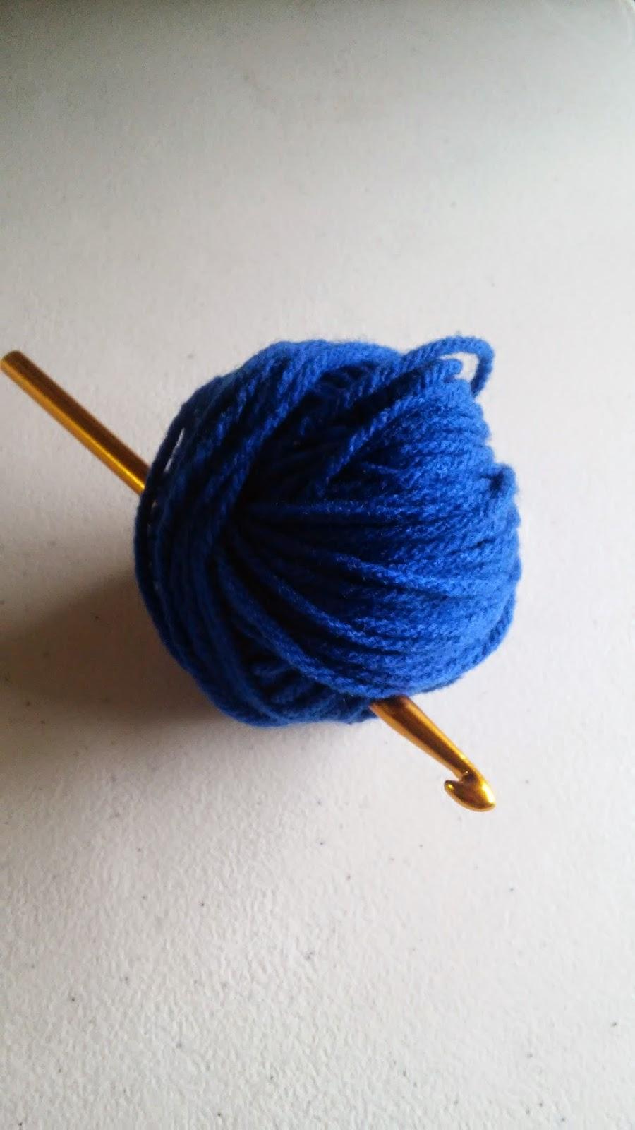 Handmade by haniyyah free. Crochet clipart blue yarn