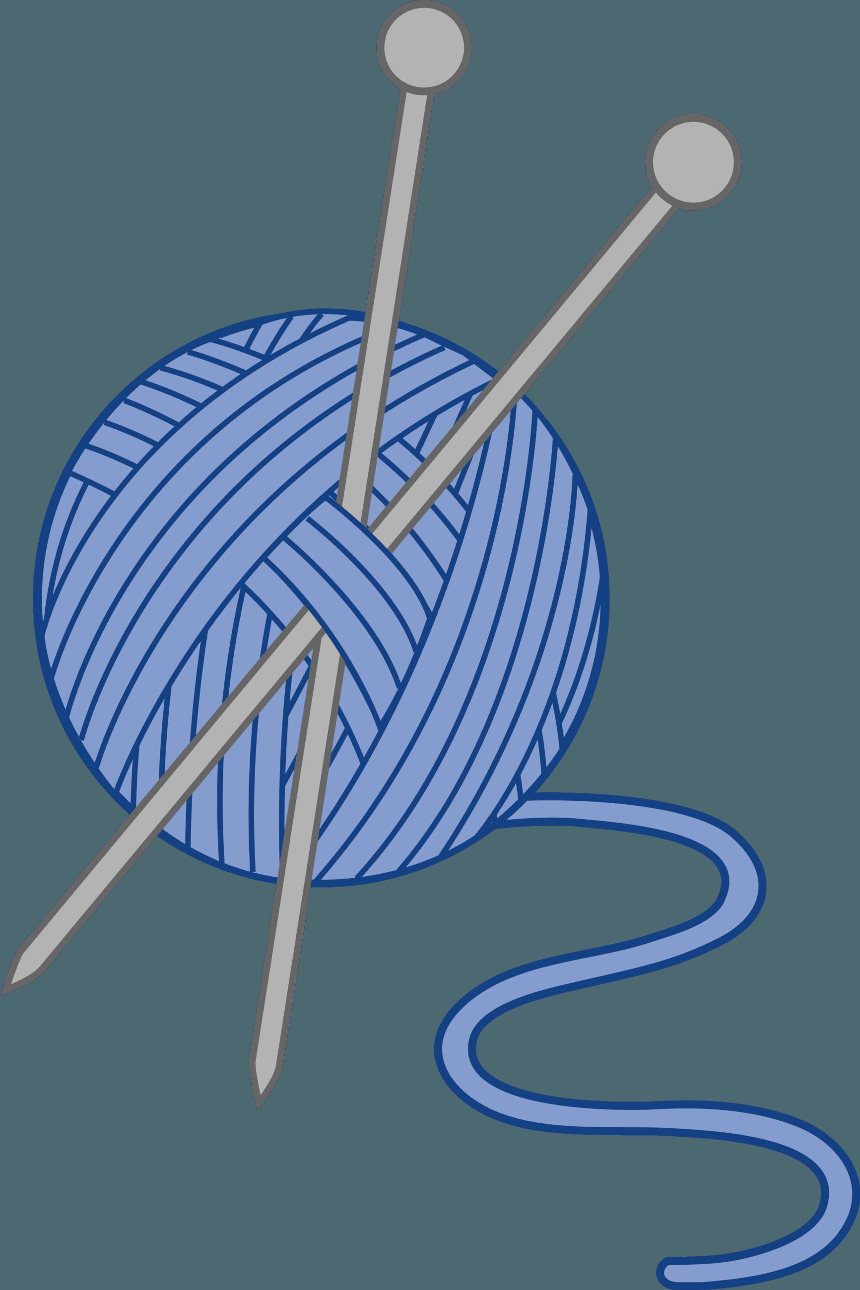 Laconia nh and knitting. Crochet clipart blue yarn