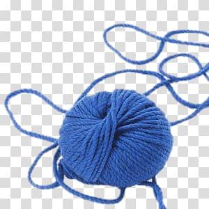 Ball of wool transparent. Crochet clipart blue yarn