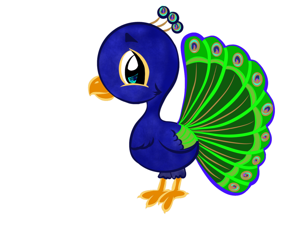 Crochet clipart colorful. Cartoon peacock colored lines