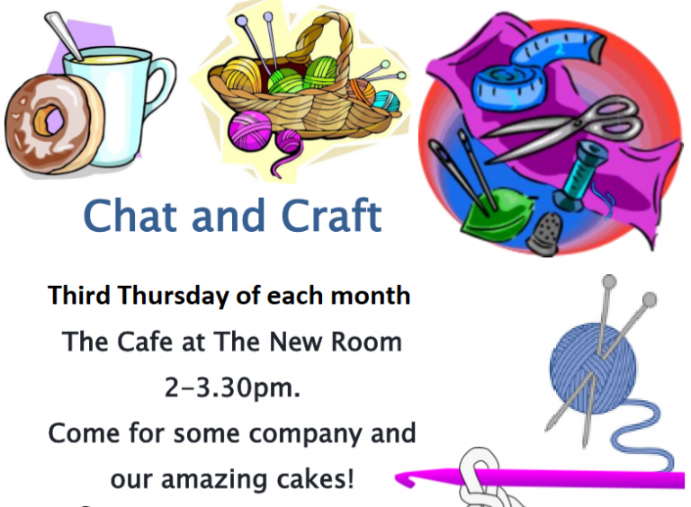 Chat in broadmead well. Crochet clipart craft group
