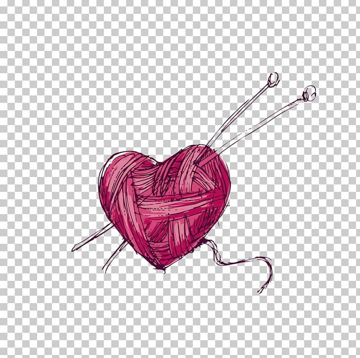 Yarn knitting wool png. Crochet clipart crochet heart