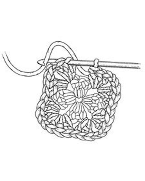 Crochet clipart granny square. Download a
