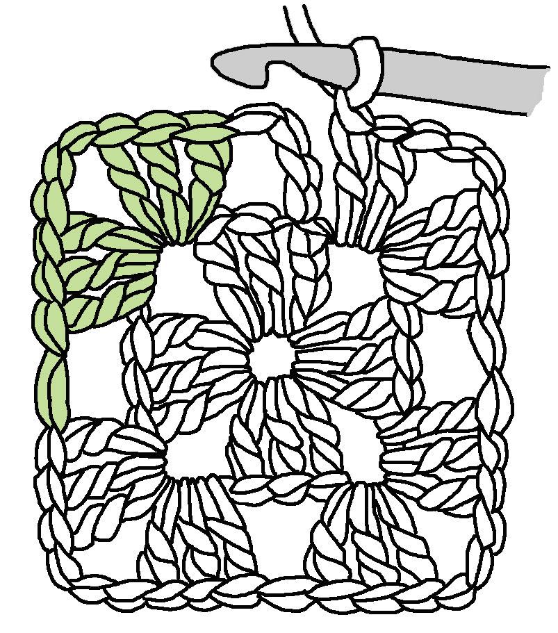 crochet clipart granny square