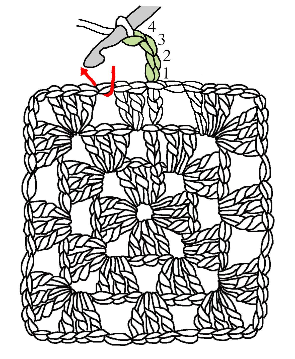 The humble . Crochet clipart granny square