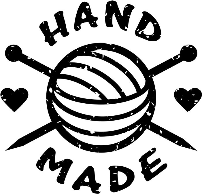 Hd rubber stamp with. Crochet clipart handmade