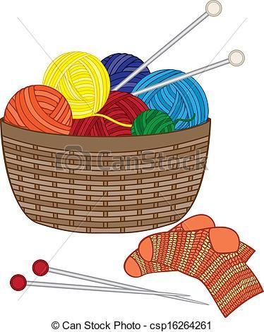 R sultats de recherche. Crochet clipart knitting basket