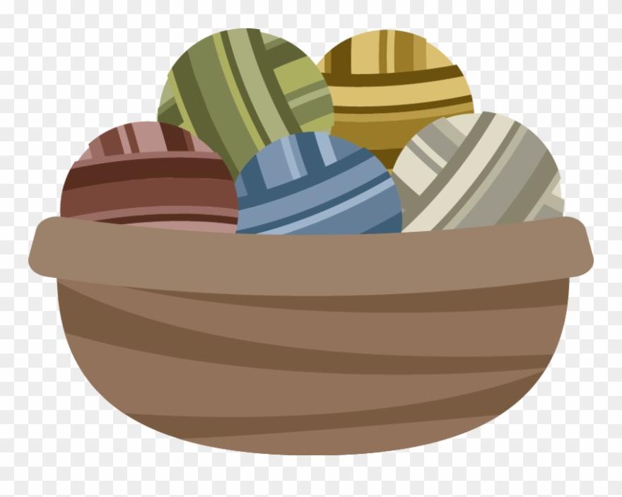Crochet clipart knitting basket. Dinghy png download