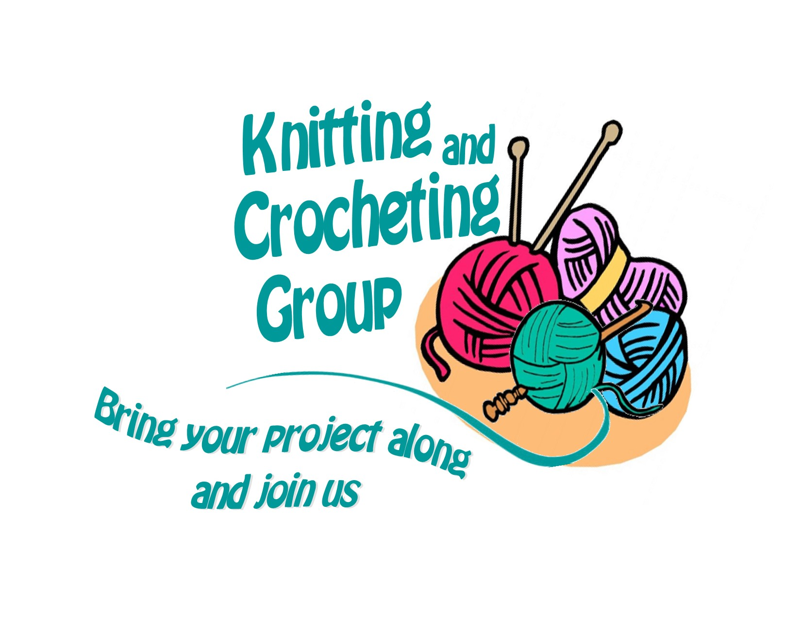 Crochet clipart knitting group. And crocheting milwaukee com