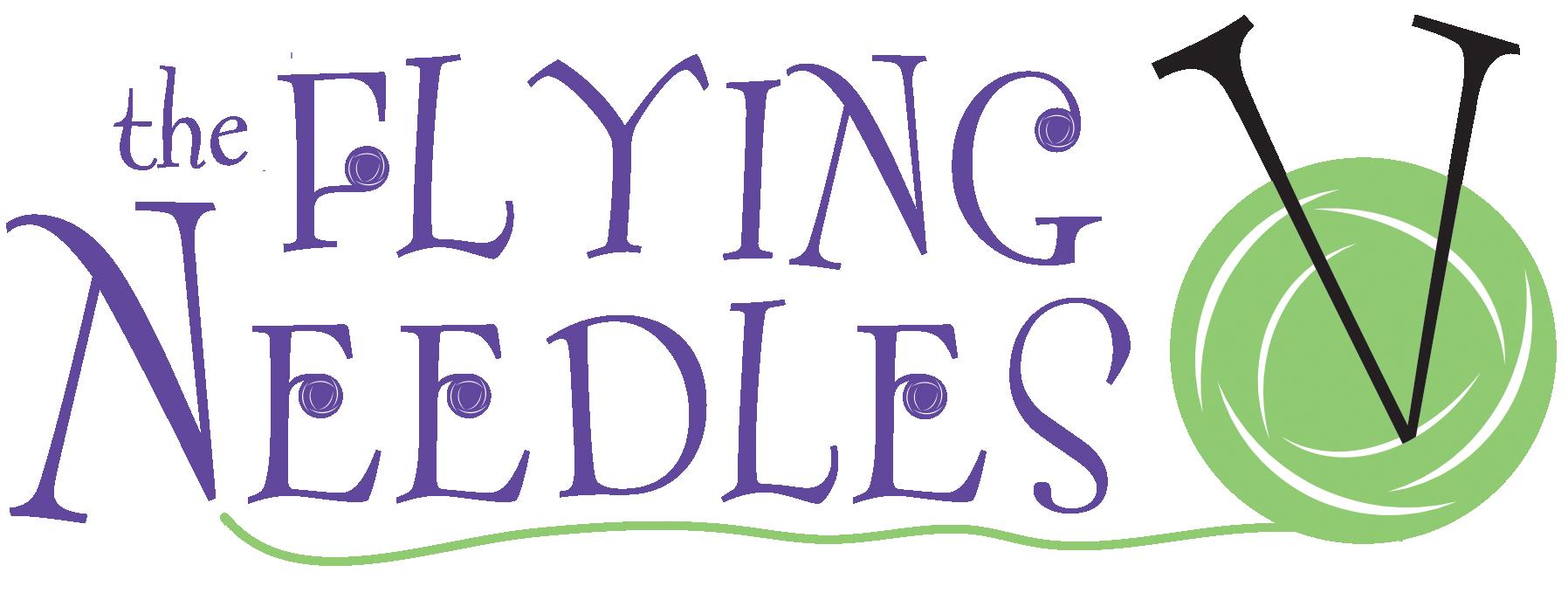 The flying needles yarn. Needle clipart knitting needle