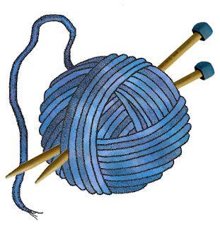 Free crochet download best. Knitting clipart blue yarn
