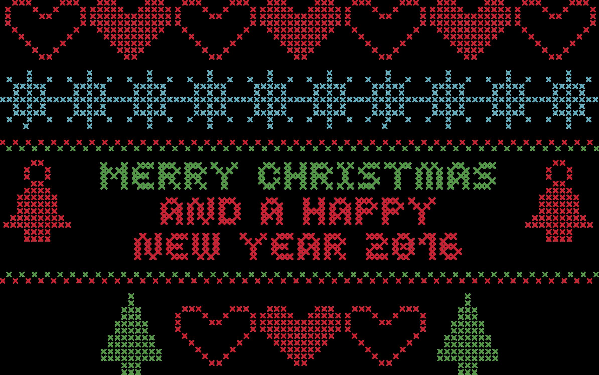 Crochet clipart needlecraft. Merry christmas typography big
